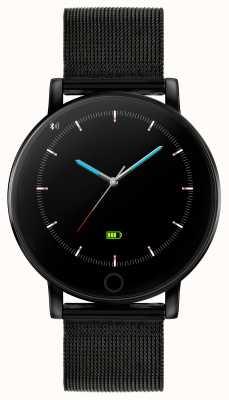 Reflex Active Reloj inteligente Serie 5 | monitor de recursos humanos | pantalla táctil a color | malla de acero ip negra RA05-4024
