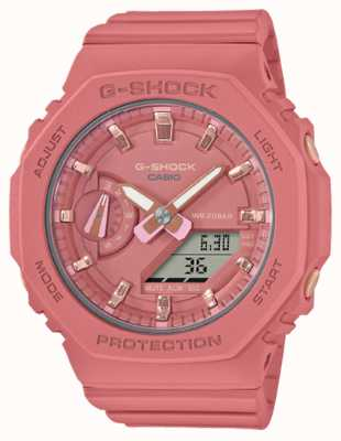 Casio G-shock de tamaño medio | correa de resina rosa | esfera rosa GMA-S2100-4A2ER