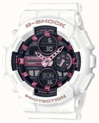 Casio G-shock | deportes unisex | correa de resina blanca | esfera negra GMA-S140M-7AER