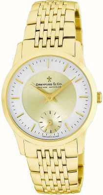 Dreyfuss Reloj de acero inoxidable caballero dorado DGB00002/03