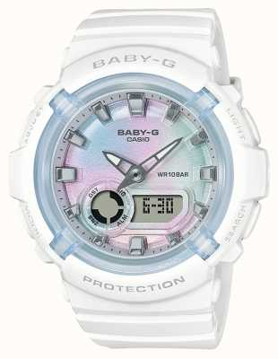 Casio Baby-g | correa de resina blanca | esfera multicolor BGA-280-7AER