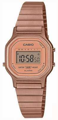Casio Vintage | pulsera de acero chapado en oro rosa | Pantalla digital LA-11WR-5AEF