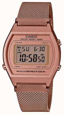 Casio Vintage | digital | pulsera de malla de pvd de oro rosa B640WMR-5AEF