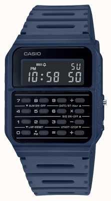 Casio Reloj calculadora retro | correa de resina azul | esfera negra CA-53WF-2BEF