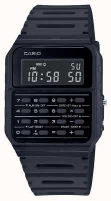Casio Reloj calculadora retro | correa de resina negra | esfera negra CA-53WF-1BEF