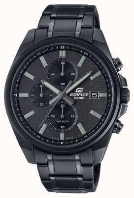 Casio Edificio todo ip negro | pulsera de acero inoxidable negro | esfera negra EFV-610DC-1AVUEF