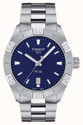 Tissot Pr100 sport   esfera azul   pulsera de acero inoxidable T1016101104100