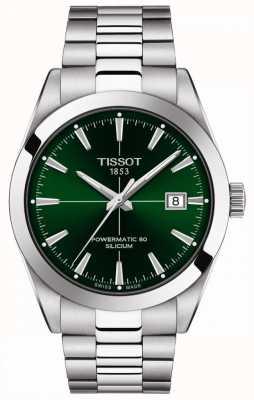 Tissot | caballeros automáticos | powermatic 80 | pulsera de acero inoxidable | esfera verde | T1274071109101