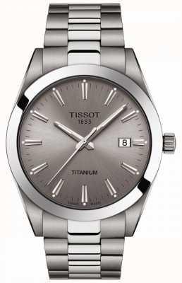 Tissot Caballeros titanio | pulsera plata / titanio gris | esfera gris T1274104408100