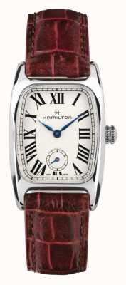Hamilton Boulton | esfera blanca | correa de cuero marrón H13321811
