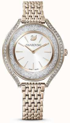 Swarovski Aura cristalina | brazalete de acero inoxidable dorado para mujer | esfera blanca 5519456