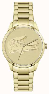 Lacoste Ladycroc | pulsera chapada en oro | esfera de oro 2001175