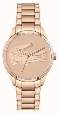 Lacoste Ladycroc | pulsera de mujer de acero en oro rosa | esfera de oro rosa 2001172