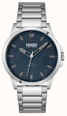 HUGO #first | pulsera de acero inoxidable para hombre | esfera azul 1530186