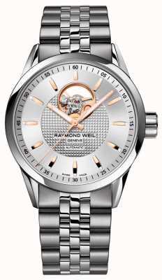 Raymond Weil Freelancer | pulsera de acero inoxidable para hombre | esfera plateada 2710-ST5-65021