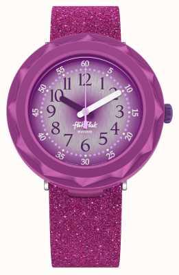 Flik Flak Purpleaxus | correa de silicona purpurina violeta | esfera morada FCSP106