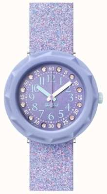 Flik Flak Lilaxus | correa de silicona purpurina violeta | esfera morada FCSP102