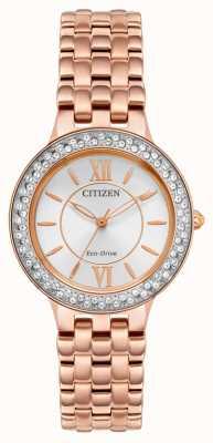Citizen Pulsera de mujer eco-drive de oro rosa FE2088-54A