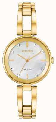 Citizen Esfera de diamantes eco-drive para mujer EM0802-58D