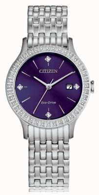 Citizen Estuche de cristal eco-drive para mujer FE1200-51L