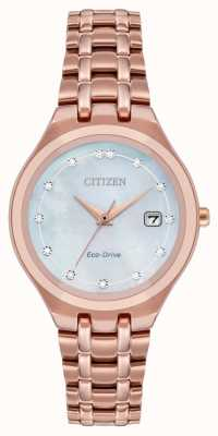 Citizen Esfera de diamantes eco-drive para mujer EW2489-54D