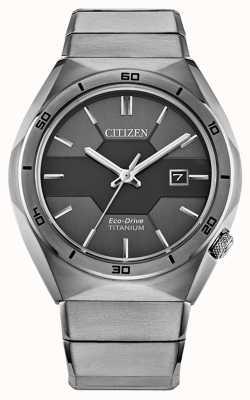 Citizen Armadura de super titanio eco-drive para hombre AW1660-51H