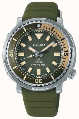 Seiko Prospex | correa de silicona verde | esfera verde SUT405P1