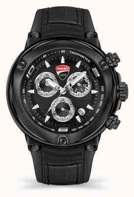 Ducati Dt001 | cronógrafo | esfera negra | correa de silicona negra DU0064-CCH.A02