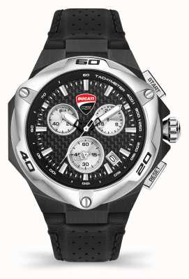 Ducati Dt002 | cronógrafo | esfera negra | correa de cuero negro DU0065-CCH.A01