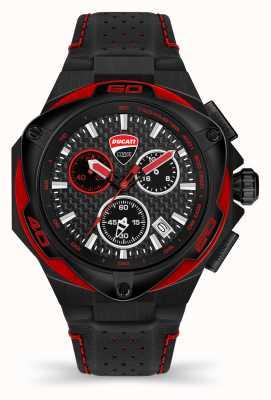 Ducati Dt002 | cronógrafo | esfera negra | correa de cuero negro DU0065-ECH.A04