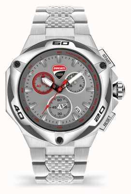 Ducati Dt002 | cronógrafo | esfera gris | pulsera de acero inoxidable DU0065-ECHB.B03