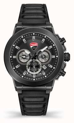 Ducati Dt004 | dueltime | esfera negra | correa de cuero negro DU0068-CCH.A01