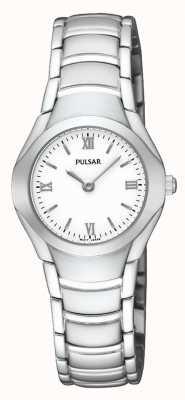 Pulsar Reloj de pulsera analógico Damas de acero inoxidable PEGE49X1