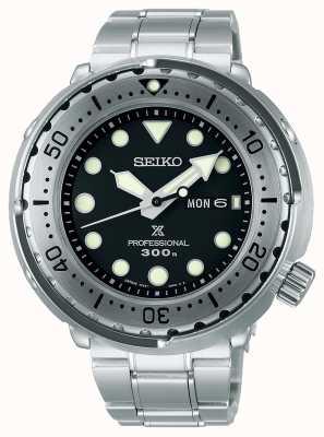 Seiko Prospex | atún | 300m | pulsera de acero inoxidable | esfera negra S23633J1
