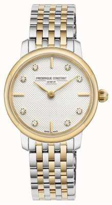 Frederique Constant Esfera fina con diamantes para mujer FC-200STDS23B