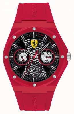 Scuderia Ferrari Aspire | correa de silicona roja | esfera negra 0830786