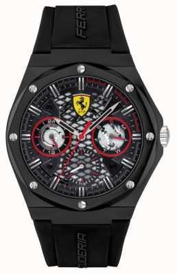 Scuderia Ferrari Aspire | correa de silicona negra | esfera negra 0830785