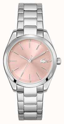 Lacoste Petite parisienne | pulsera de acero inoxidable para mujer | esfera rosa 2001176