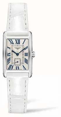 Longines Dolcevita elegancia contemporánea   mujer   cuero blanco   cuarzo suizo L52554712