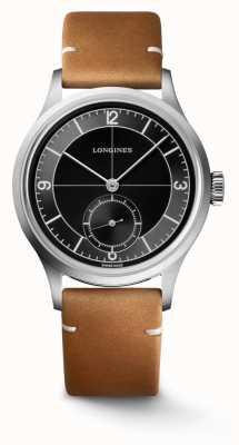 Longines Correa de cuero marrón clásico heritage L28284532