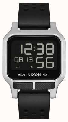 Nixon Calor   correa de caucho perforada negra A1320-008