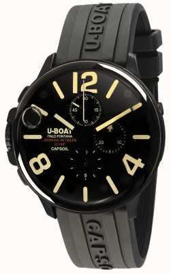 U-Boat Correa de caucho negra capsoil 45 dlc chrono / c 8109/C