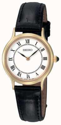 Reloj de Señora Seiko Esfera Blanca Correa de Piel SFQ830P1