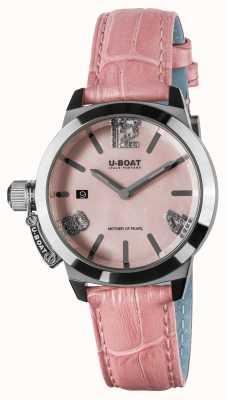 U-Boat Correa de piel Classico 38 rosa 8480