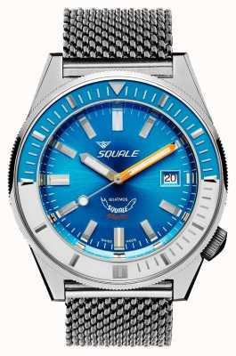 Squale Malla azul claro Matic   automático   esfera azul   pulsera de malla de acero inoxidable MATICXSE.ME22-CINSS22