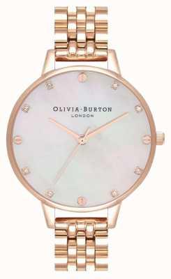 Olivia Burton Demi blush mop pulsera de oro rosa OB16SE15