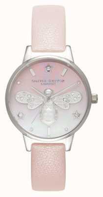 Olivia Burton Sparkle bee midi perla rosa y plateado OB16GB09