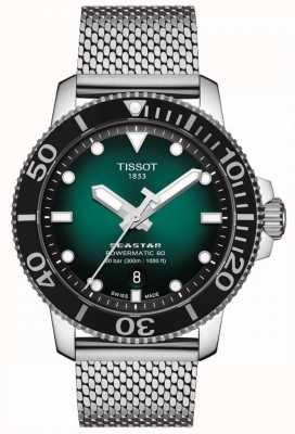 Tissot Seastar 1000 | powermatic 80 | esfera verde | malla inoxidable T1204071109100