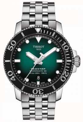 Tissot Seastar 1000 | powermatic 80 | esfera verde | acero inoxidable T1204071109101