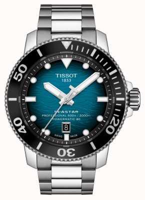 Tissot | seastar 2000 pro | powermatic 80 | esfera turquesa | pulsera de acero | T1206071104100